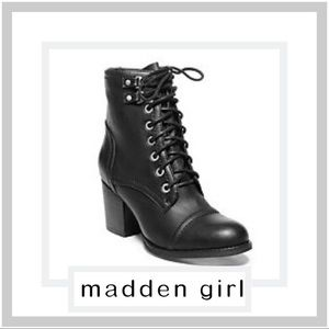 EUC Madden Girl Westmont Heeled Combat Boots